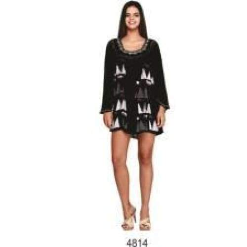 Long Sleeve Tunic Black & White Apparel $26.99