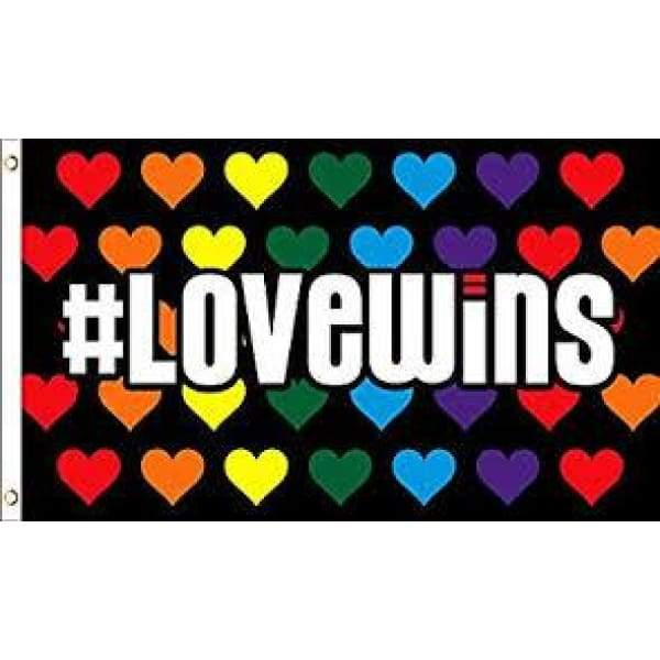 Love Wins Flag 3x5 General Merchandise $12.99