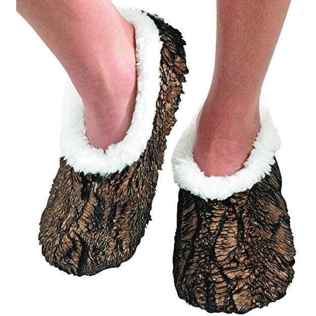 Metalic Butter Brown Snoozies Slippers Foot Covering For Womens Footwear $10.99