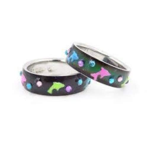 Mood Ring Band With Dolphins General Merchandise $3.99