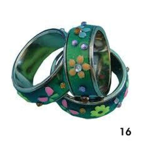 Mood Ring Band With Flowers and Hearts General Merchandise $3.99