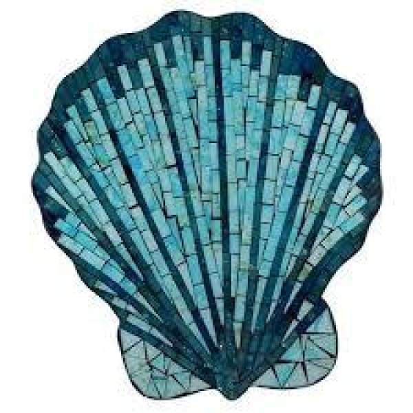 Multi Blue Mosaic Shell Wall Plaque Home & Decor $29.99