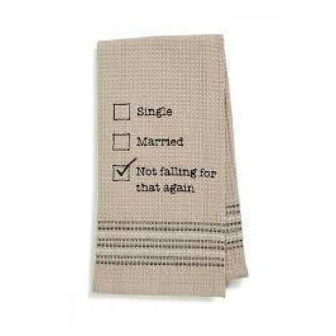 Not Again Dishtowel Novelty Gifts Gifts $12.99