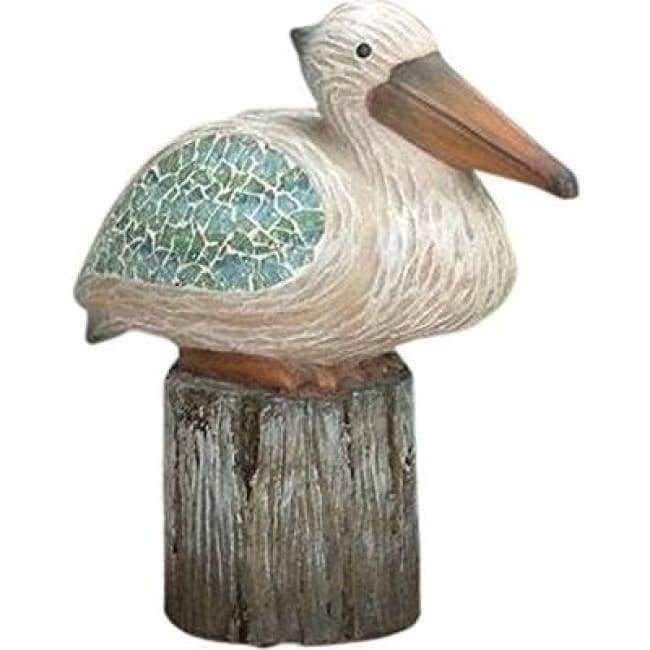 Pelican Sitting Crushed Glass Home & Decor $29.99