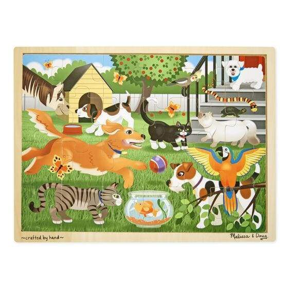 Pets Wooden Jigsaw Puzzle - 24 Pieces Toys $14.99