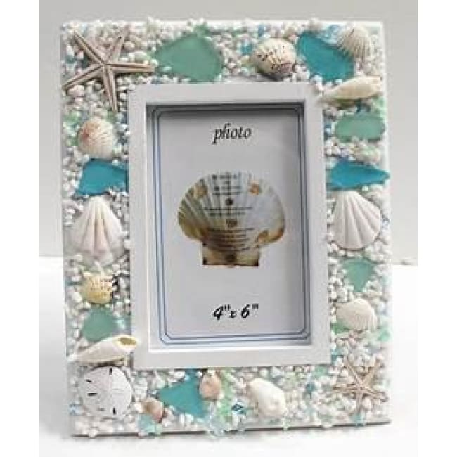 Picture Frame Sea Glass 4 x 6 Home & Decor $24.99