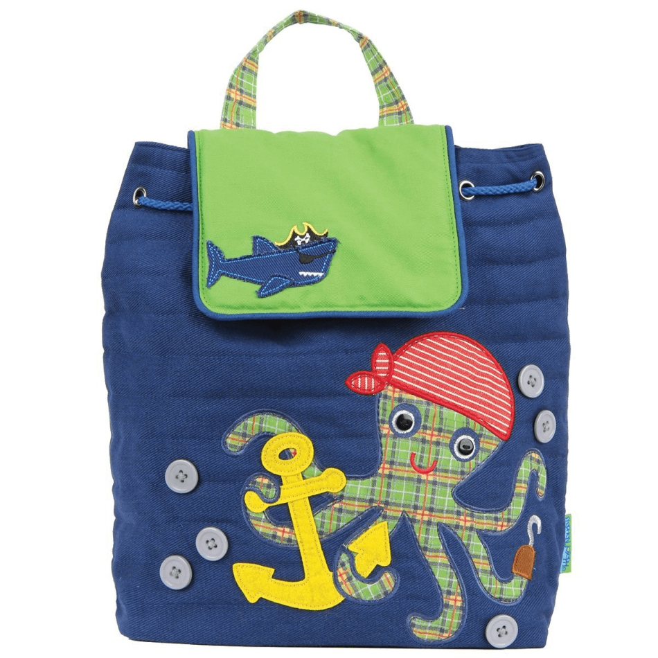 Pirate Octopus Quilted Kids Back Packs General Merchandise $34.99