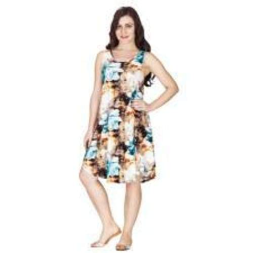 Poly Umbrella Dress With Flowers Apparel $24.99
