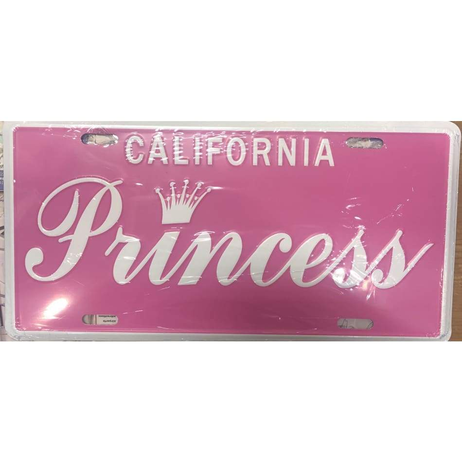 Princess California Decorative License Plate Home & Decor $11.99