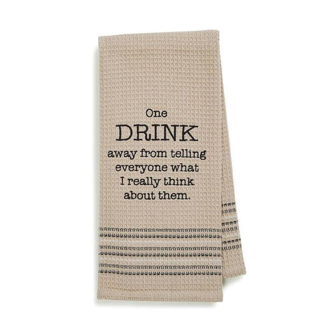 Really Think Dishtowel Novelty Gifts Gifts $12.99
