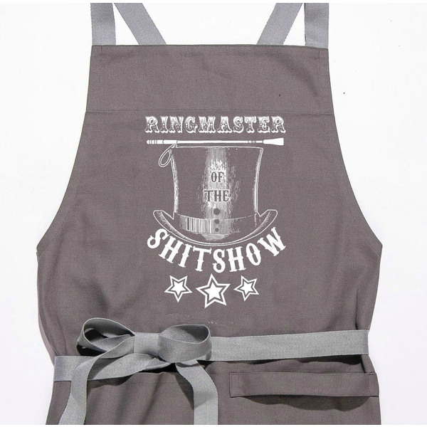 Ringmaster Of the Shitshow Apron Gifts $29.99