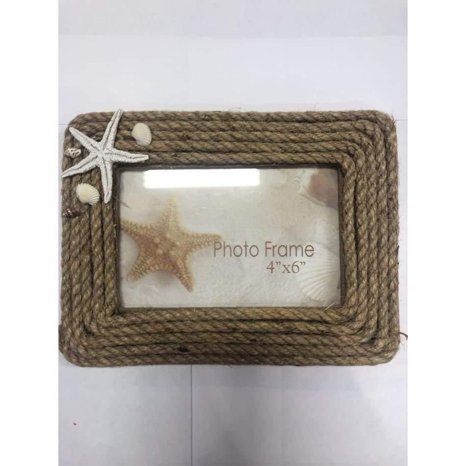 Rope Picture Frame With Seashell Home & Decor $14.99