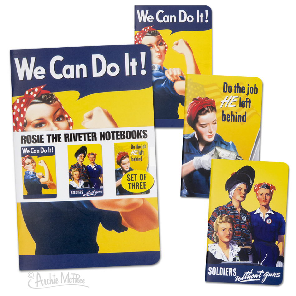 Rosie The Riveter Notebooks Gifts $12.99