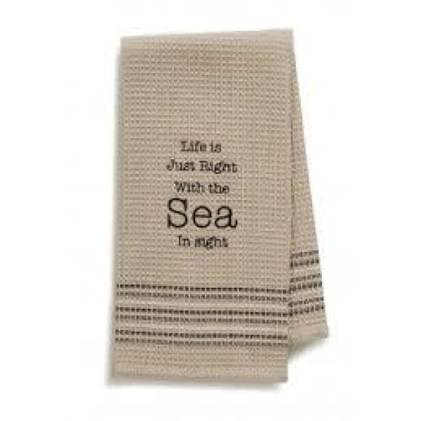 Sea In Sight Dishtowel Novelty Gifts $12.99