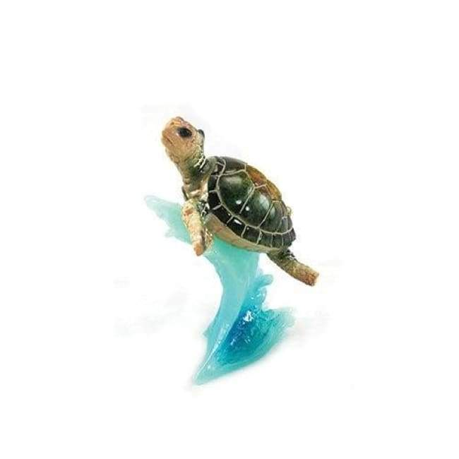 Sea Turtle Figurine On A Blue Wave 5 Home & Decor $18.99