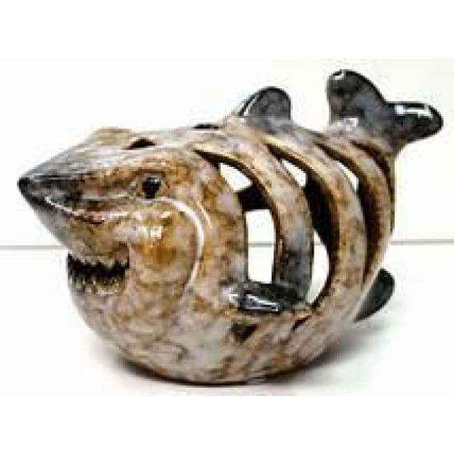 Shark Multi-Color Tealight Holder Figurines $14.99