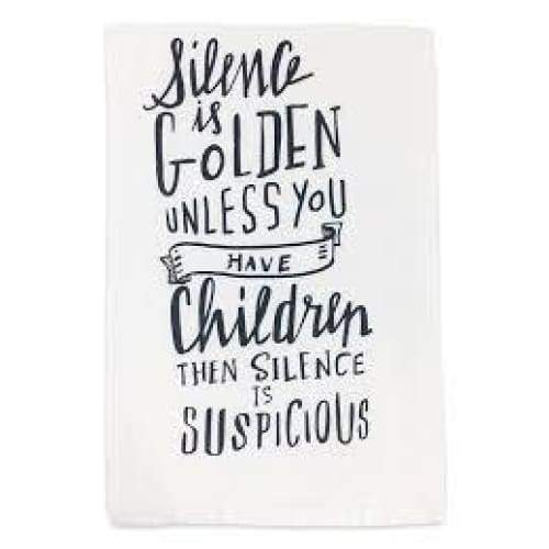 Silence is golden Dishtowels Gifts $12.99