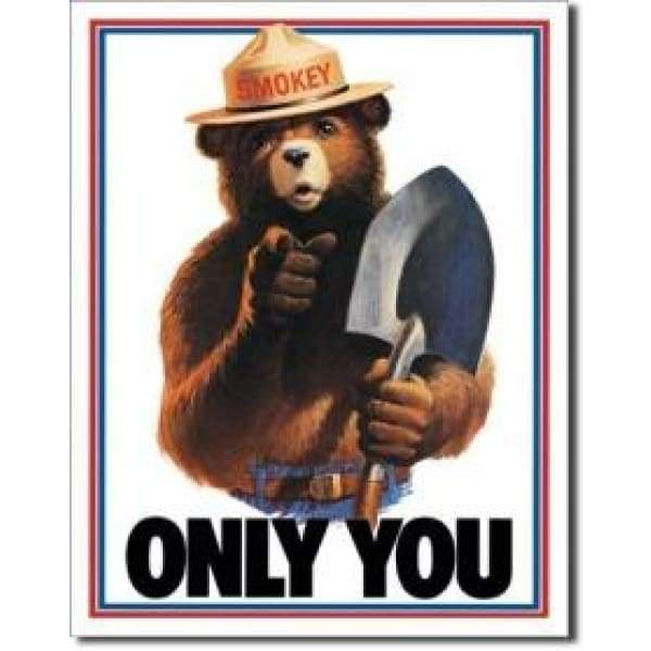 Smokey The Bear Tin Sign Home & Decor $11.95