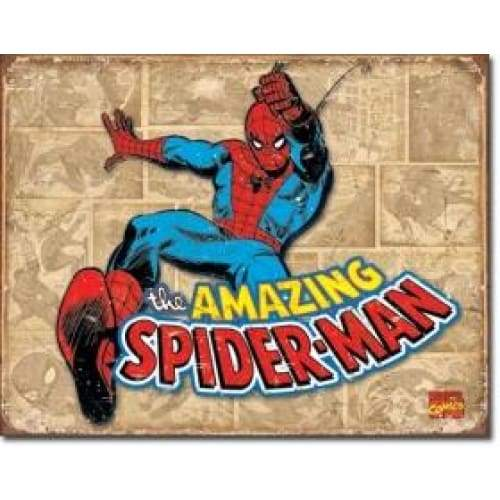 Spiderman Retro Panels Tin Sign Home & Decor $11.95
