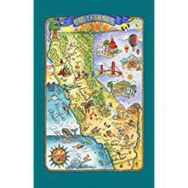 State Of California Dishtowel Gifts $12.99