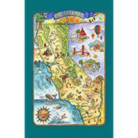 State Of California Dishtowel - Gifts