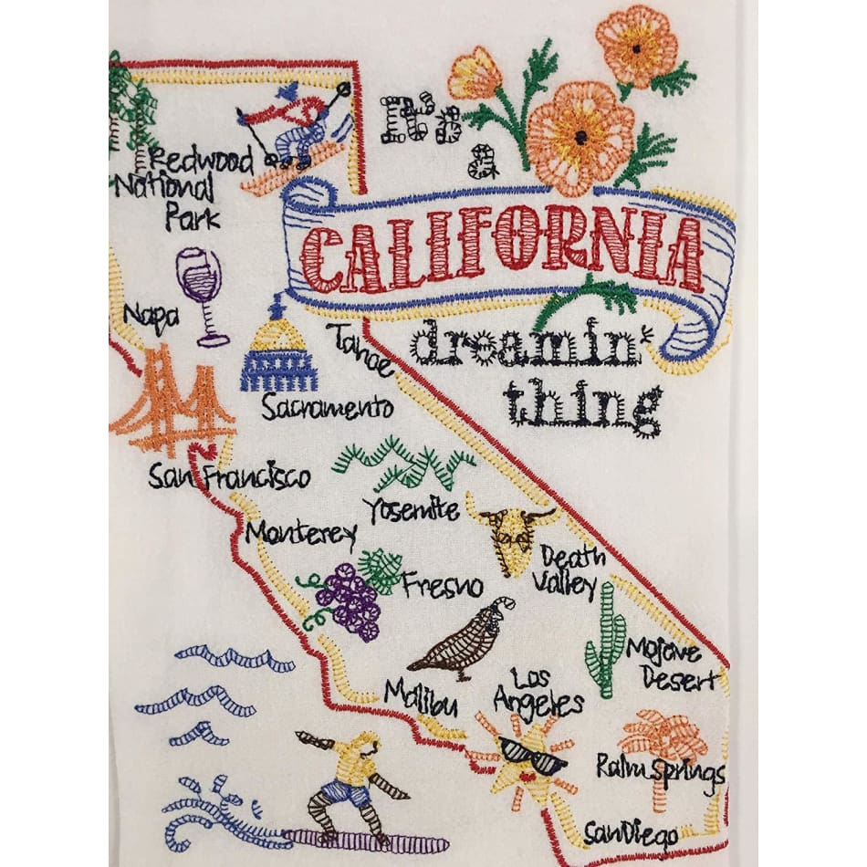 State Things California Dishtowel - Gifts