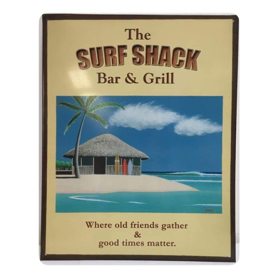 Surf Shack Tin Signs Home & Decor $11.95
