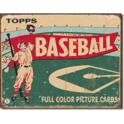 Tops Baseball 1954 Tin Sign Home & Decor $11.95
