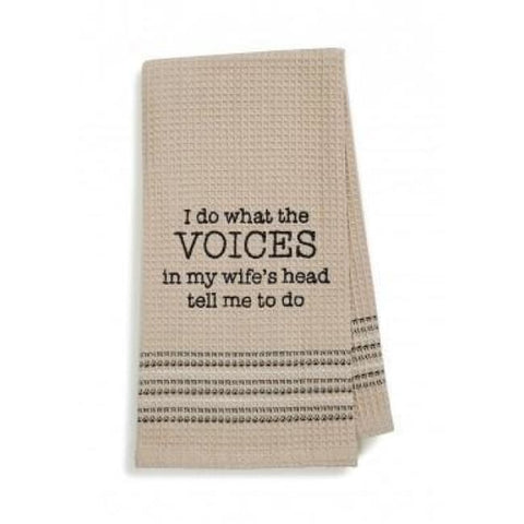 Voices Dishtowel Novelty Gifts Gifts $12.99