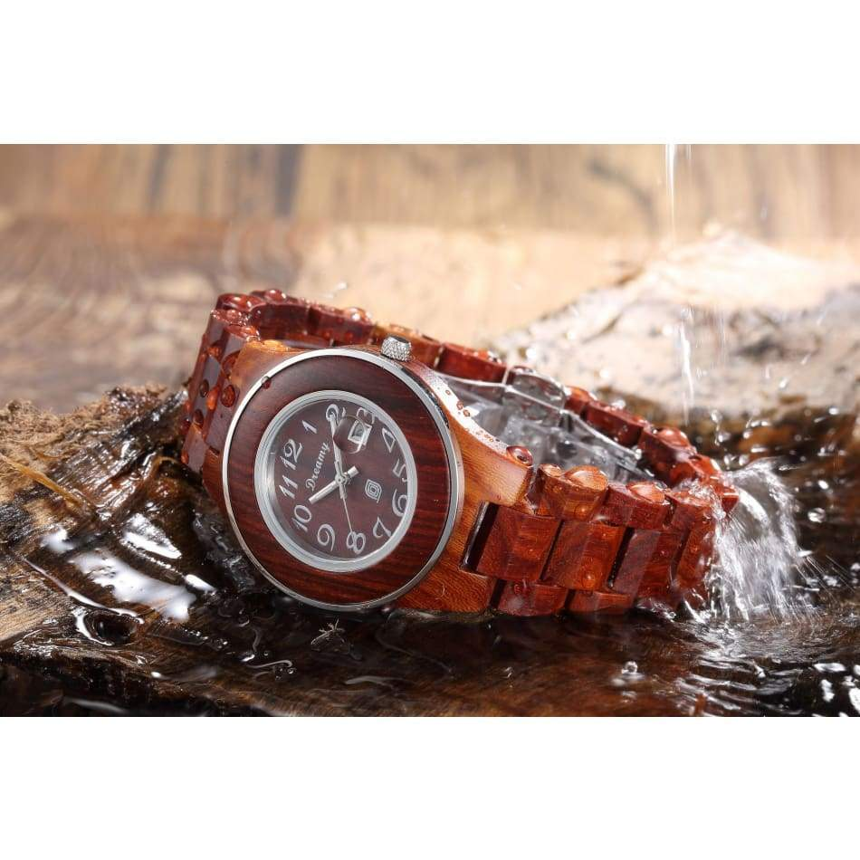 Womens Natural Rosewood Wooden Watch Watches $98.95