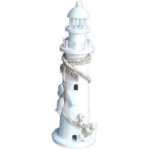 Wood Lighthouse White W/Fish Home & Decor $9.99