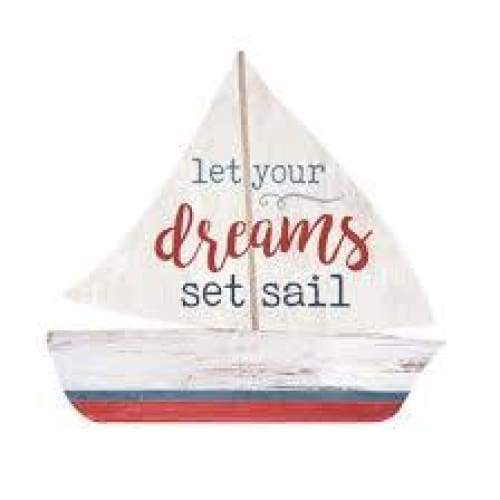 Wood Signs Boat Let Your Dreams.. Home & Decor $6.99