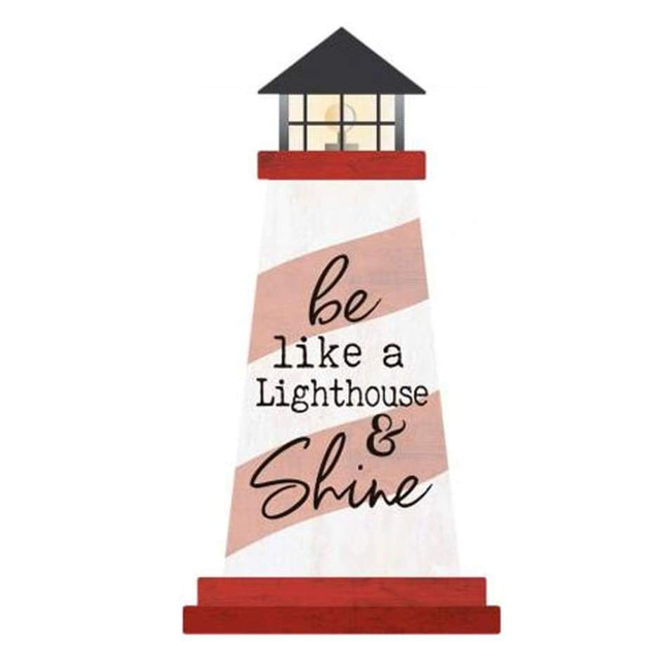Wood Signs Lighthouse Be Like A Lighthouse... Home & Decor $6.99