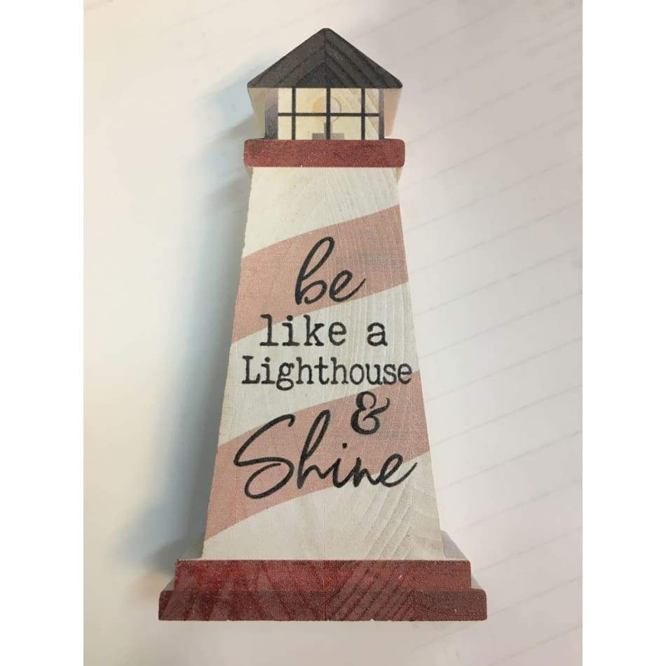 Wood Signs Lighthouse Sea Lifes... Home & Decor $6.99