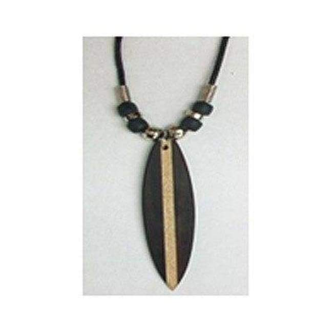 Wooden Surfboard Cord Necklace General merchandise $4.99