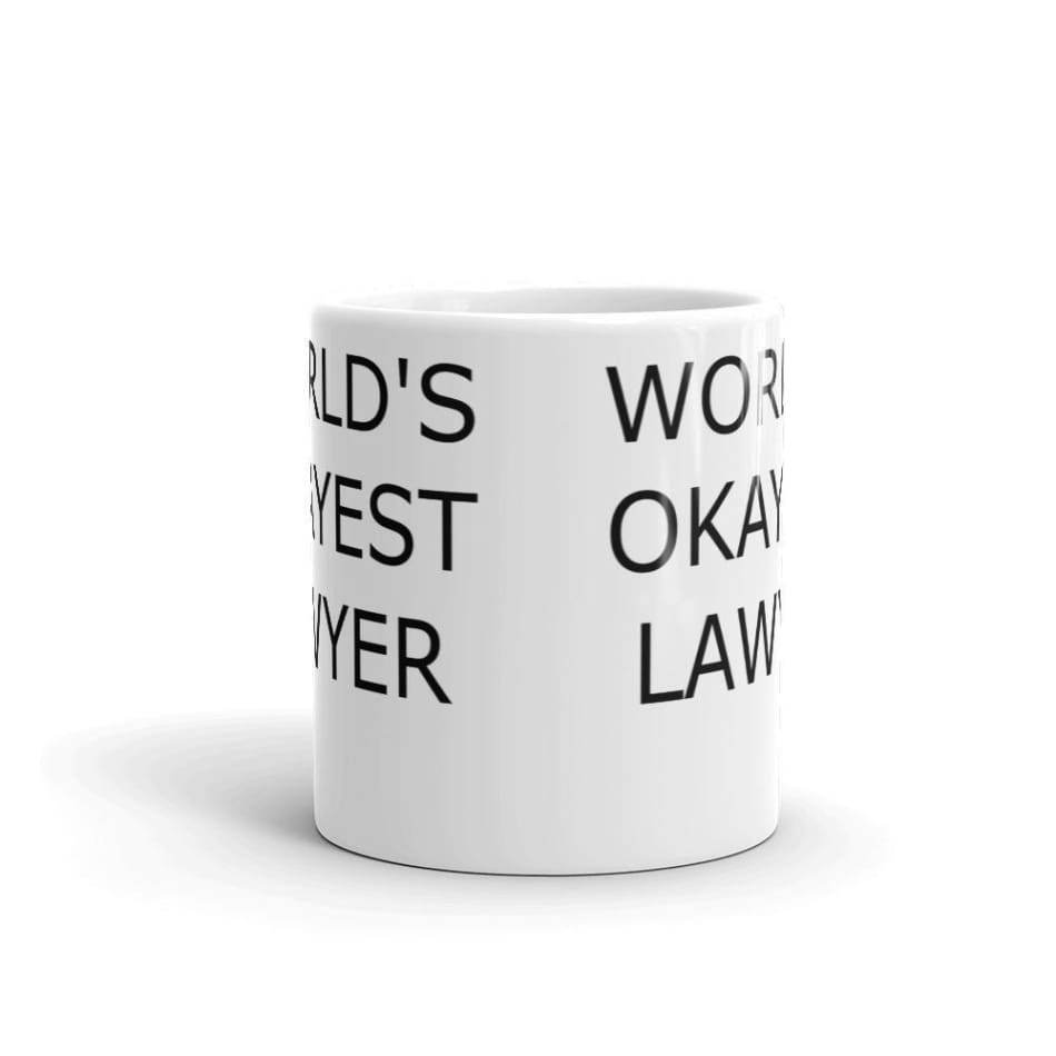 Worlds Okayest Lawyer Coffee Mug Gifts $12.99