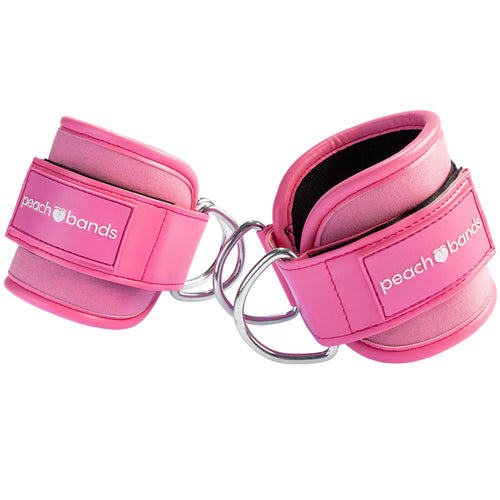 Cable Ankle Straps-Peach Bands Fitness Canada for Glute Kickbacks