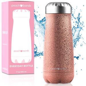 Everyday Bottle Peach Bands Fitness Canada Stainless Steel Water Bottle Glitter