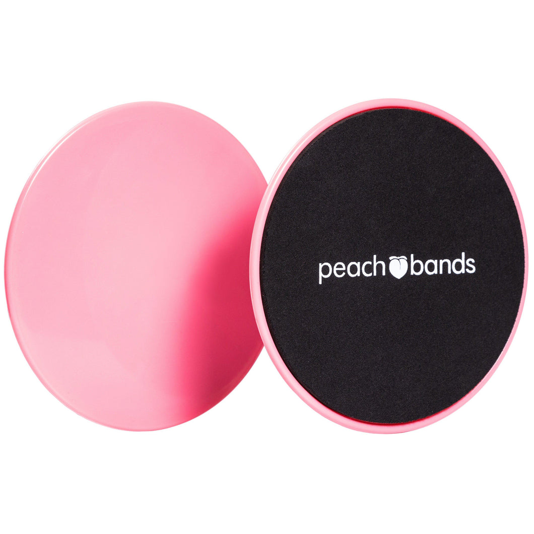 Core Sliders-Peach Bands Fitness Canada Exercise Discs for Abs Pink