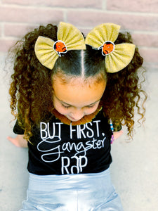 Snoop Dogg gold tulle bow