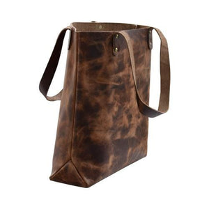 Brown buffalo Leather Women's Tote Bag - BohoEntice