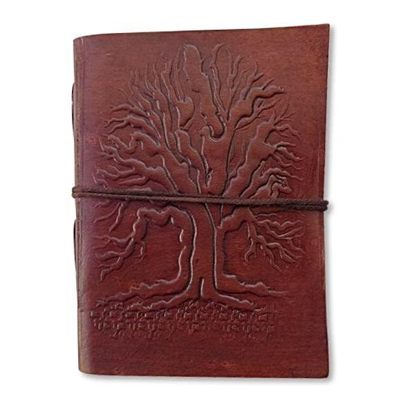 Vintage Leather Cover Journal Blank Diary Handmade Brown Notebook - BohoEntice