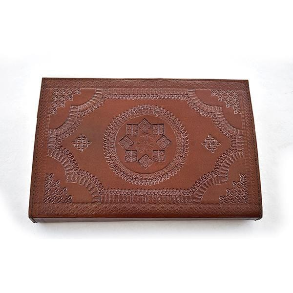 Handmade Leather Journal Blank Sketchbook Paper Diary Notebook - BohoEntice