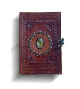 Vintage Journal Handmade Leather Stitching Stone Diary Leather Notebook - BohoEntice