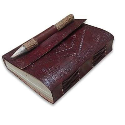 Handmade Leather Journal Blank Diary Notebook - BohoEntice