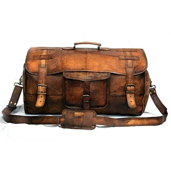 Cameron Rustic Brown Traveler Duffel Bag - BohoEntice