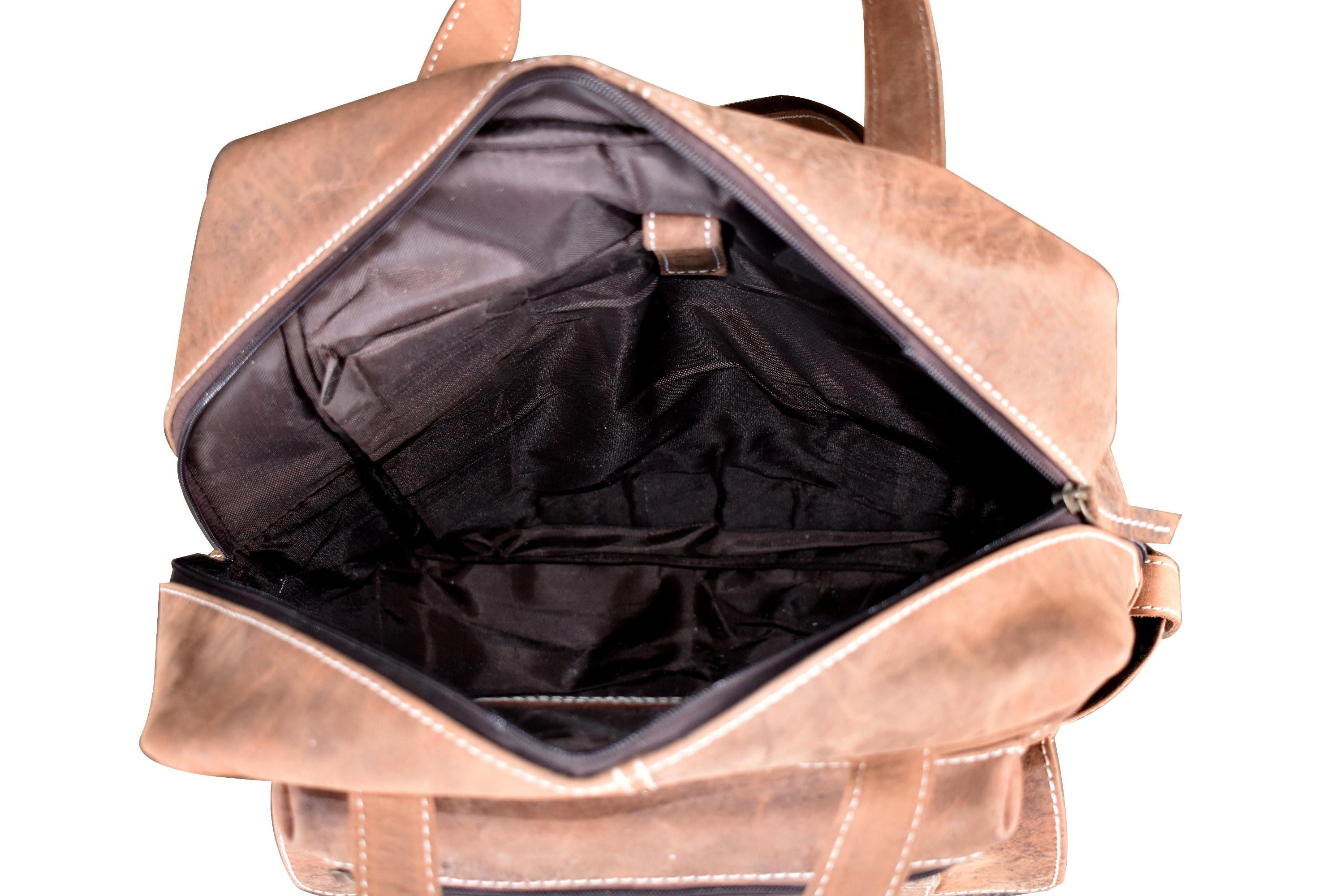 Brent Leather Brown Rucksack Backpack - BohoEntice