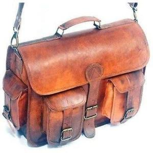 On Sale Two Pocket  Dakota Leather Messenger Bag - BohoEntice