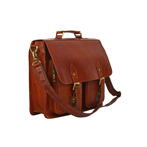 Anthony Genuine Buffalo Leather Briefcase Bag - BohoEntice