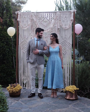 Handmade Art-Woven Wall Hanging-Macrame Wedding Backdrop